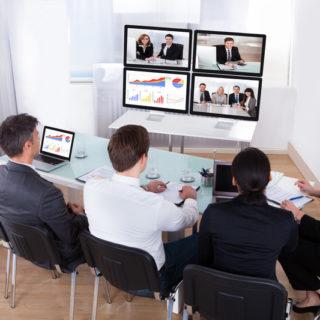 Réunion web conférence conseil entreprise CODEAF